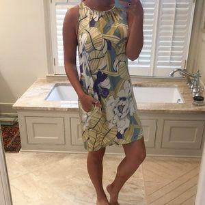 Matty M. floral silk dress
